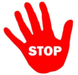 alegoria a la señal de stop